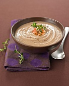 Cream of chestnut soup with crayfish
