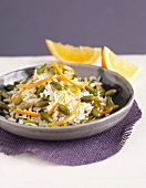 Basmati rice with pistachios and orange zests