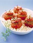 Stuffed tomatoes with white rice
