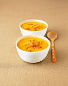 Cream of mango-ginger soup