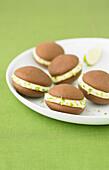 Chocolate-lime Whoopies