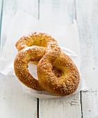Sesame bricohe bread
