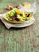 Melon,beetroot and Abondance cheese salad