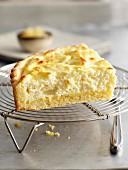 Portion of buttermilk pie