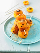 Grilled apricot brochettes