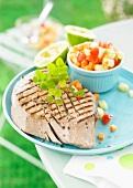 Tahitian-style grilled tuna