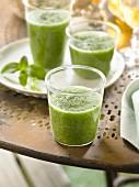 Cucumber, celery stalk and mint gazpacho