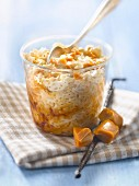 Salted-butter toffee flavored rice pudding
