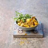 Colombo de porc (Schweinefleisch-Curry mit Colombo-Gewürz, Französische Antillen)