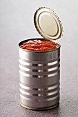 Can of tomato puree