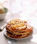 Chestnut flour pancakes with diced apples