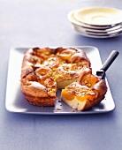 Apricot batter pudding