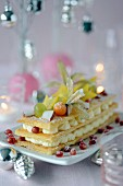 Exotic fruit and Chibouste cream Mille-feuille