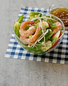 Shrimp, sugar pea and apple salad