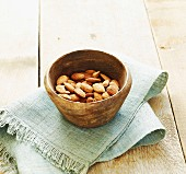 Small bowl of almonds