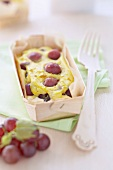 Grape batter pudding