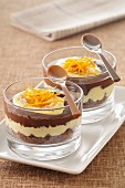 Milk chocolate,orange and cinnamon tiramisu