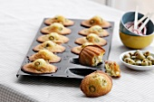 Green olive Madeleines
