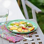 Nectarine and fennel salad