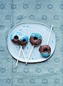 Chocolate donut popcakes