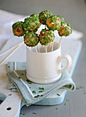 Cheese and chive savoury popcakes
