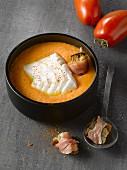 Cod Bouillabaisse and gazpacho
