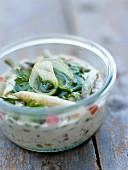 Fresh asparagus verrine