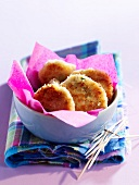 Crab meat and coconut croquettes