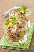 Potato and saveloy salad