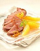 Magret de Canard (Kaltgeräucherte Entenbrust) mit Orange