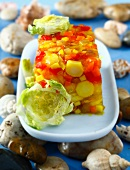 Ratatouille aspic terrine