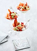 Lobster, avocado, grapefruit and pomegranate salad