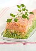 Three colored terrine