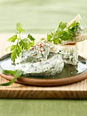 Cream cheese and herb mousse