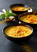 Curried carrot and coconut milk soup