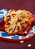 Duck magret,fig and pine nut savoury cake