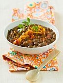 Tomato and lentil Indian soup