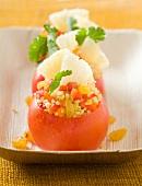 Oriental-style stuffed tomatoes