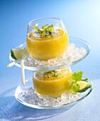 Pineapple-cilantro smoothie