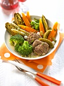 Spring vegetable Pot-au-feu