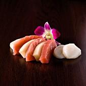 Assorted sashimis