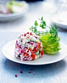 Vegetable tartare with chervil