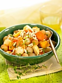 Sauteed vegetables with pine nuts