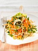 Buckwheat, carrot and coriander salad