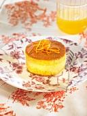 Small citrus fruit sponge cake