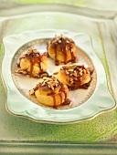 Mini almond Profiteroles