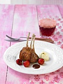Lamb with Verjus and cherry sauce