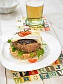 Brie hamburger