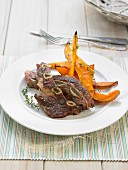 Riblits with Thyme and roasted squash