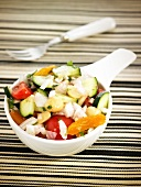 Vegetable and dried apricot salad